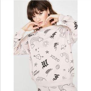 Wildfox Love Scribbles Sweatshirt